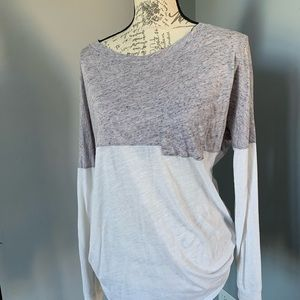 PINK small white and greypink thin long sleeve top